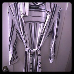 Zara striped navy and white top/dress